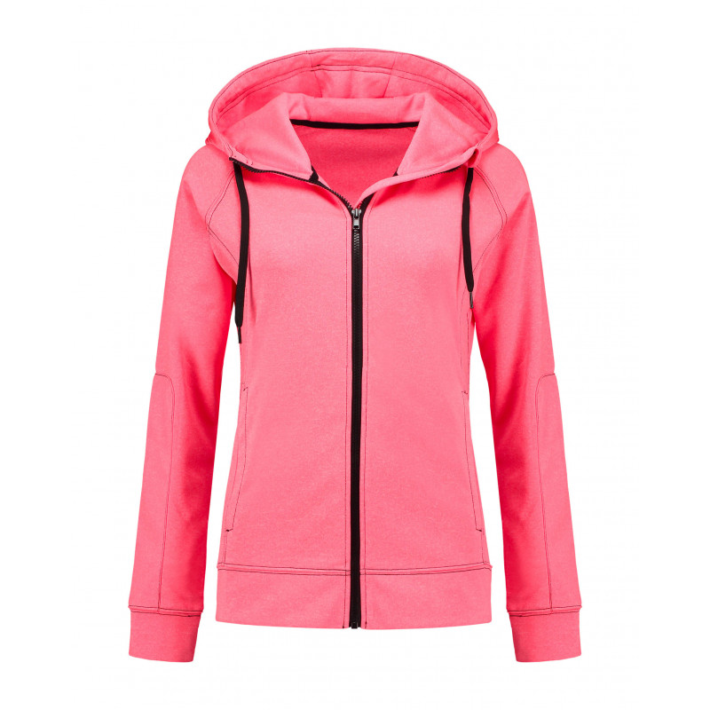 Stedman Sweater Hooded Zip Performance for her STE5930 Coral S