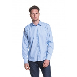 L&S Poly-cotton Mix Poplin Shirt Long Sleeves for him
