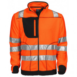 PROJOB 6303 HV FLEECE JACKET ORANGE/BLACK 3XL