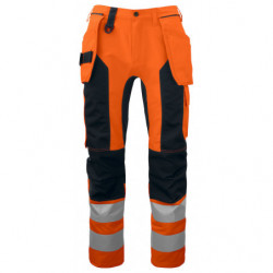 PROJOB 6513 PANTS HV ORANGE/BLACK C146