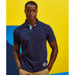 Asquith & Fox AQ016 Cotton polo with Oxford fabric insert