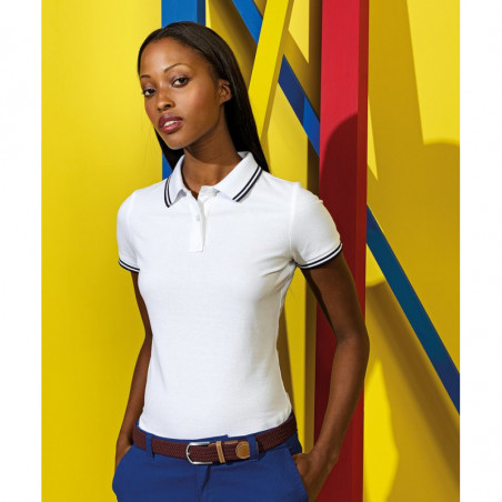 Asquith & Fox AQ021 Women's classic fit tipped polo
