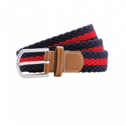 Asquith & Fox AQ901 Two-colour stripe braid stretch belt