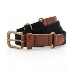 Asquith & Fox AQ902 Faux leather and canvas belt Black