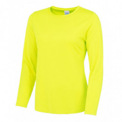 AWDis Just Cool JC012 Women's long sleeve cool T Electric Yellow L