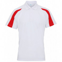 AWDis Just Cool JC043 Contrast cool polo Arctic White/Fire Red 2XL