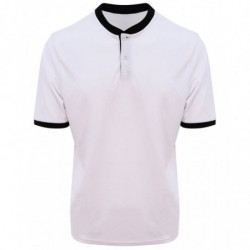 AWDis Just Cool JC044 Cool stand collar sports polo Arctic White/Jet Black 2XL
