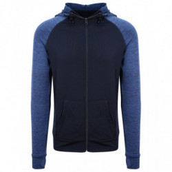 AWDis Just Cool JC057 Cool contrast zoodie Navy/Navy Melange L