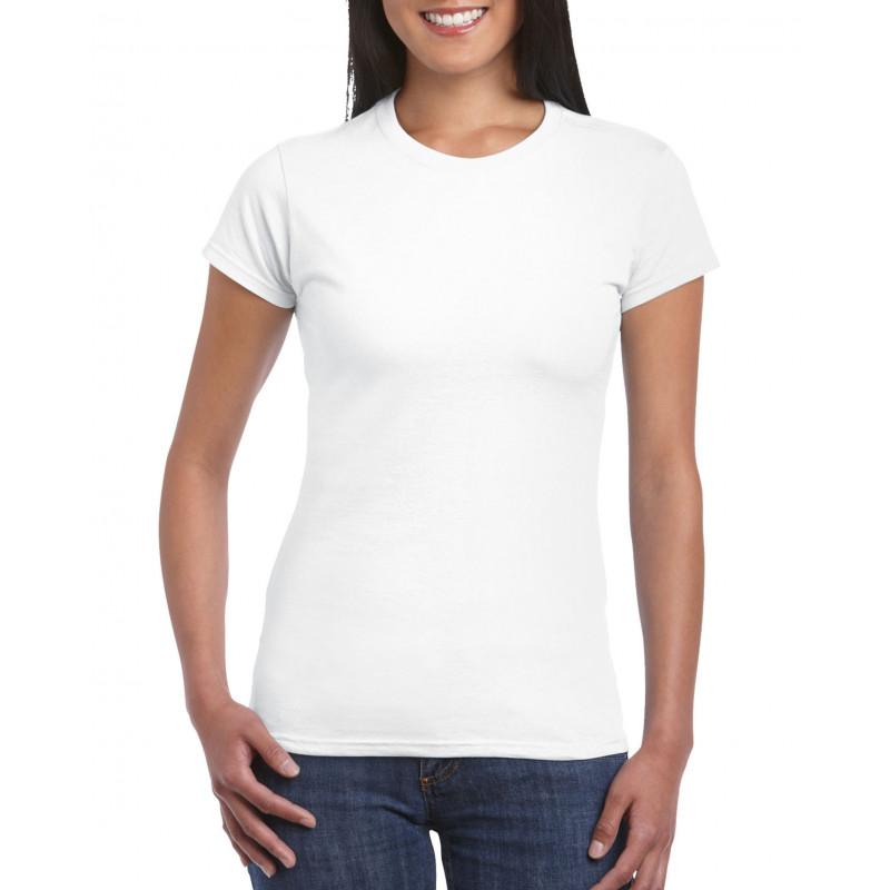 Gildan T-shirt SoftStyle SS for her GIL64000L 000 White S