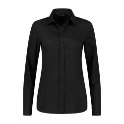 L&S Shirt Poplin mix LS for her LEM3923 Black S