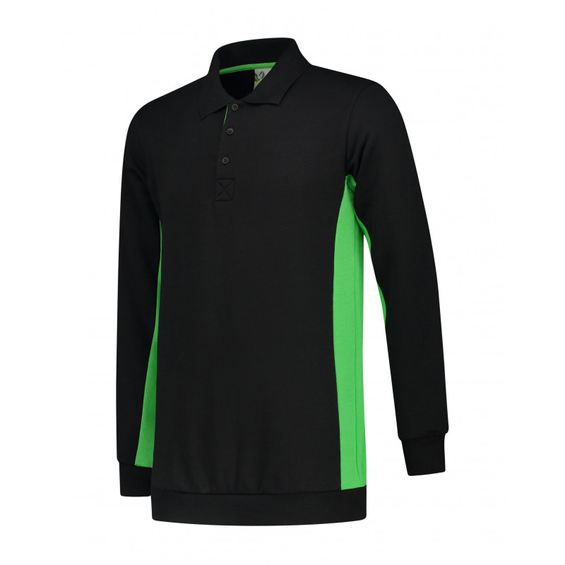 L&S Polosweater Workwear LEM4700 Black/Lime S