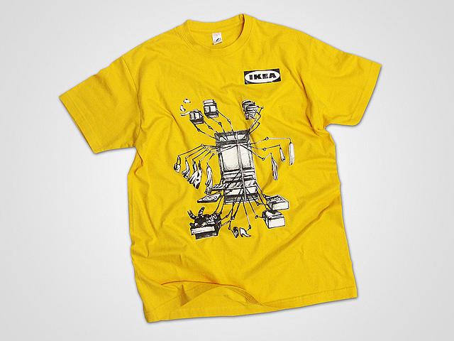 zeefdruk op T-shirt